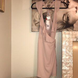 Boutique Pale Pink Ruffle Dress